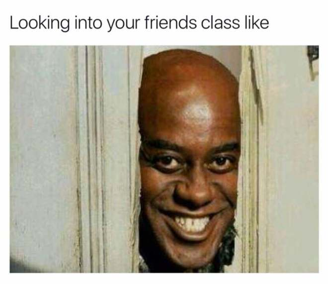 Peeping at school friends