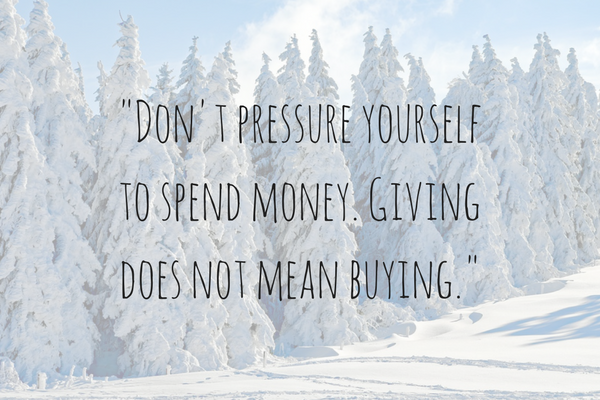 Giving does not mean buying